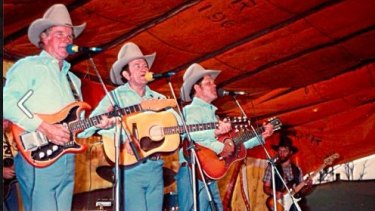 Gympie Muster founders - The Webb brothers on stage in 1982.