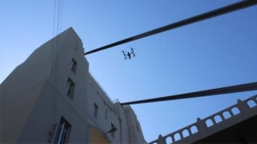 A drone has been flown above the Walter Taylor Bridge at Chelmer as part of an inspection.