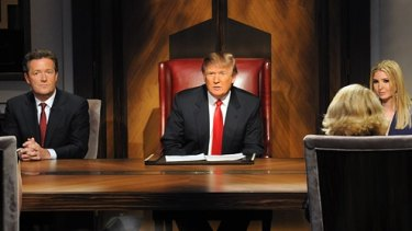 """Donald Trump as a reality television host pioneered the famous catchcry """"You're fired""""."""