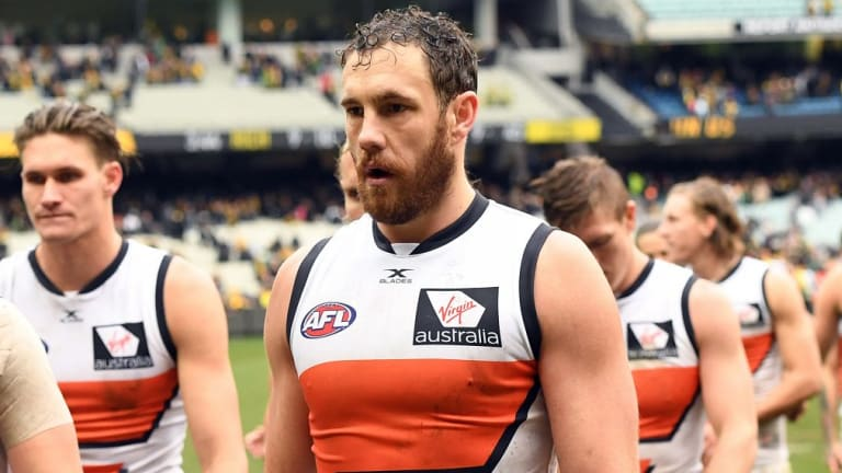 Unlucky: The loss of Shane Mumford due to injury was a massive blow to GWS.