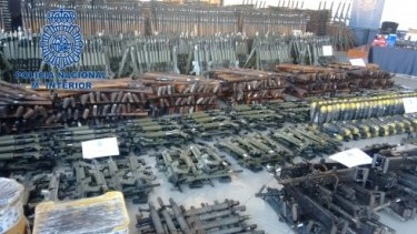 It took two months to catalogue the entire arsenal, police said.