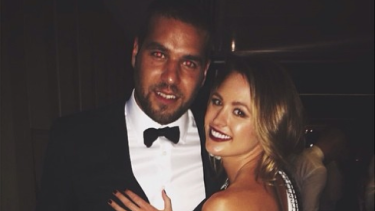 """""""I've been in tears on the way to work"""": Jesinta Campbell has opened up about how she has been dealing with fiance Lance """"Buddy"""" Franklin's mental health illness."""