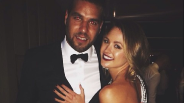 Jesinta Campbell has shot down rumours about her fiance Buddy Franklin.