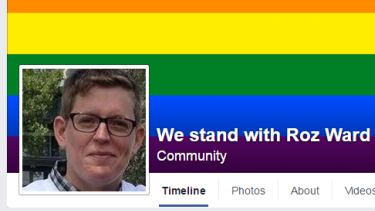 The Facebook page in support of Roz Ward has already got more than 5000 likes.