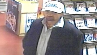 Police have released an image of the alleged penis pump thief in a bid to track him down.
