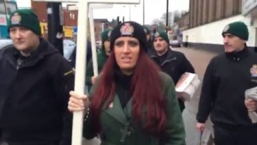 "Jayda Fransen, leader of the fringe anti-Islam party Britain First, said she was ""delighted"" by Donald Trump's retweets."