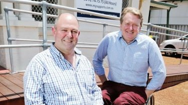 Disability service provider My Supports was founded by two men with disability, Jim Cairns and Terry Mader.