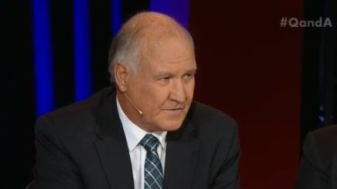New England independent candidate Tony Windsor faced tough questions on Q&A.