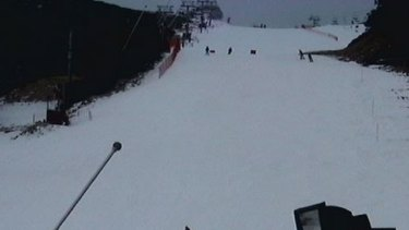An image taken from the 'Towers' camera at Falls Creek.