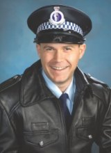 A photograph of Mr Farrell during his time as a NSW police officer.