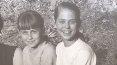 Debra and Sallie-Anne Krivoshow, later to become Sallie-Anne Huckstepp.
