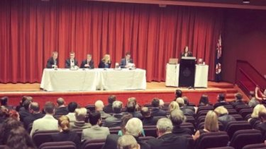 "The ""Finkel Review Brief"" held in NSW parliament house where clients of the Photios' appeared on the panel."