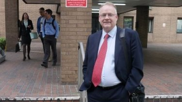 Peter Chapman outside the court in London.