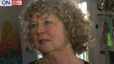 Feared worst: Elizabeth Osborne, Mick Fanning's mother.