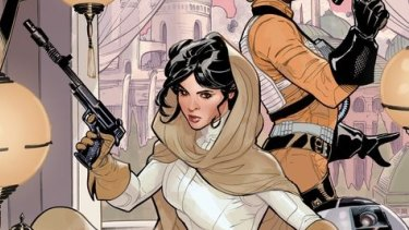 """Princess Leia partners with an X-Wing Fighter pilot named Evaan in her new """"Star Wars"""" comic."""
