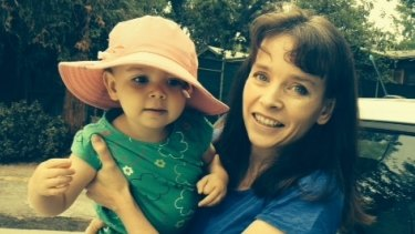 Abigail Allwood with daughter Sophia at home.