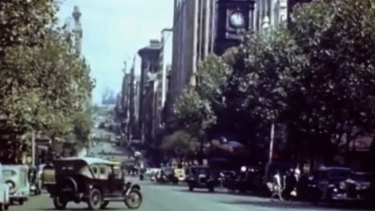 Footage shot by a tourist in Melbourne in the 1940s has emerged on YouTube.