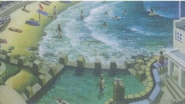 Coogee card: A detail of the card's artwork by Stephen Evans.