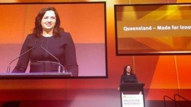 Innovation Queensland Premier Annastacia Palaszczuk announces new start-up hub for Fortitude Valley.