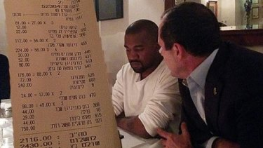 Now you see her, now you don't: The ultra-orthodox news site used a receipt to block out Kim Kardashian.