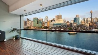 Views from the apartment in Pirrama Road, Pyrmont.