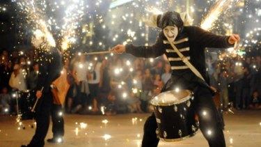 "Les Tambours de Feu: ""drums of fire""."