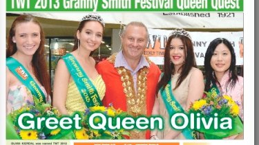Local support: <i>The Weekly Times'</i> proprietor John Booth has run the pageants for three decades.