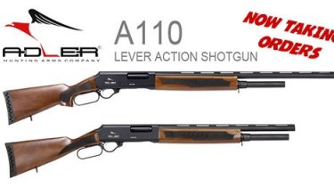 The Adler 110 shotgun.