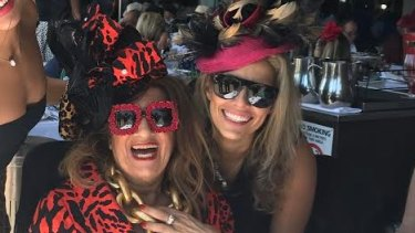 Maria and Bianca Venuti at a Melbourne Cup lunch Woolloomooloo.
