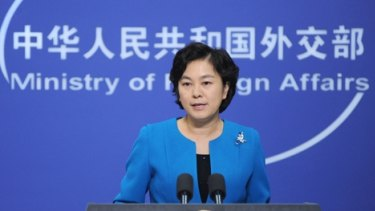 China's Foreign Ministry spokeswoman Hua Chunying says Australian citizens were detained by Shanghai police.