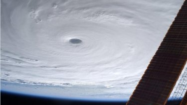 Japanese astronaut Kimiya Yui snapped this image of Super Typhoon Soudelor from the International Space Station.
