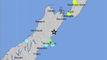 Magnitude 7.4 earthquake struck the south island of New Zealand.