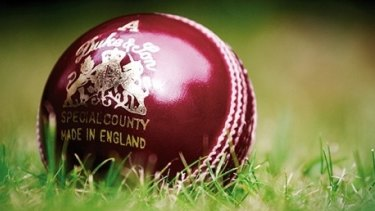In the spotlight: The Dukes cricket ball will be used in Sheffield Shield matches.