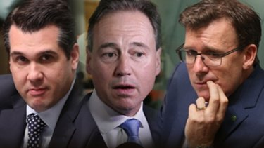 Michael Sukkar, Greg Hunt and Alan Tudge.