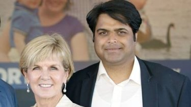 Resigned Liberal candidate for Fremantle Sherry Sufi with Foreign Minister and deputy Liberal leader Julie Bishop.