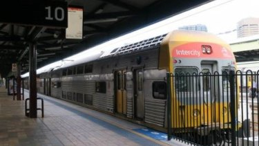 A NSW Trains V-set similar to the one in the incident at Central Station.
