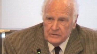 Former governor general Dr Peter Hollingworth fronts the royal commission.