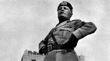 Italian dictator Benito Mussolini.