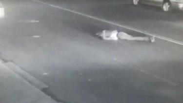 The injured pedestrian appeared be unconscious in the middle of Pitt Street in Sydney.