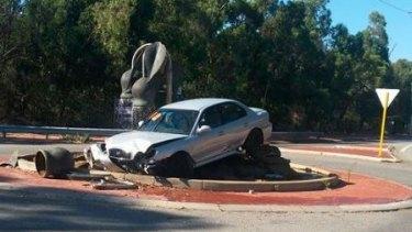The Forrestfield crash scene.
