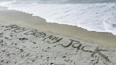 A message Jack McAtee's family left for him on his birthday.