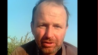 Craig Bruce McAllister, seen here in a video obtained by Yemeni website Mareb Press, is reportedly being held hostage.