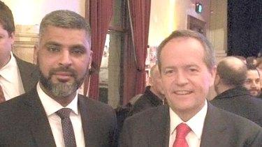 Dr Imran Syed with Labor leader Bill Shorten.