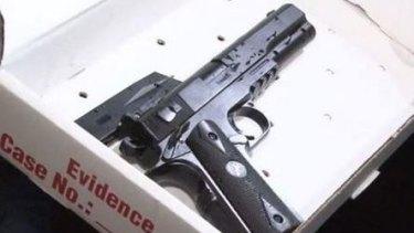 Toy gun allegedly held by Tamir E. Rice.