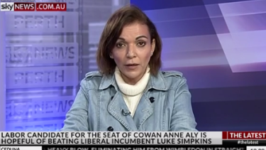 Anne Aly appearing on Sky News.
