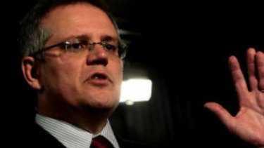 Treasurer Scott Morrison is expected to emphasise the slow growth under a Labor negative gearing policy.