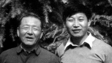 Xi Jinping and his father Xi Zhongxun.
