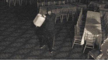 CCTV footage shows a person inside the function centre on December 26, 2016.