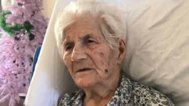 Dimitra Pavlopoulou, 97, was taken from her nursing home in Clarinda.