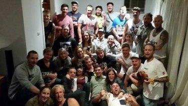 Friends of Dane Kowalski celebrating his life